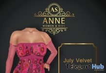 Velvet Pink Dress 2L Promo by Anne Store - Teleport Hub - teleporthub.com
