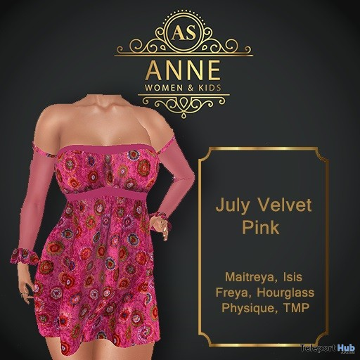 ac739aeb22d4c Velvet Pink Dress 2L Promo by Anne Store | Teleport Hub - Second ...