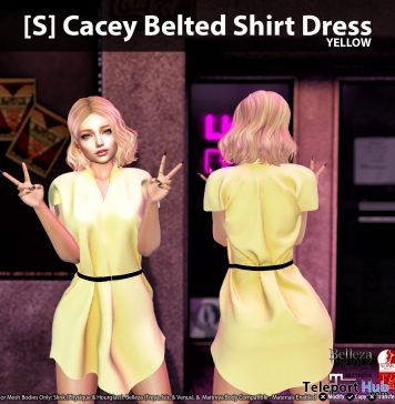 New Release: [S] Cacey Belted Shirt Dress by [satus Inc] - Teleport Hub - teleporthub.com