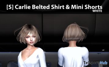 New Release: [S] Carlie Belted Shirt & Mini Shorts by [satus Inc] - Teleport Hub - teleporthub.com