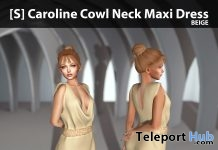New Release: [S] Caroline Cowl Neck Maxi Dress by [satus Inc] - Teleport Hub - teleporthub.com