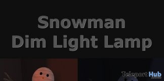 Snowman Dim Light Lamp January 2019 Group Gift by Third Moon Creations - Teleport Hub - teleporthub.com