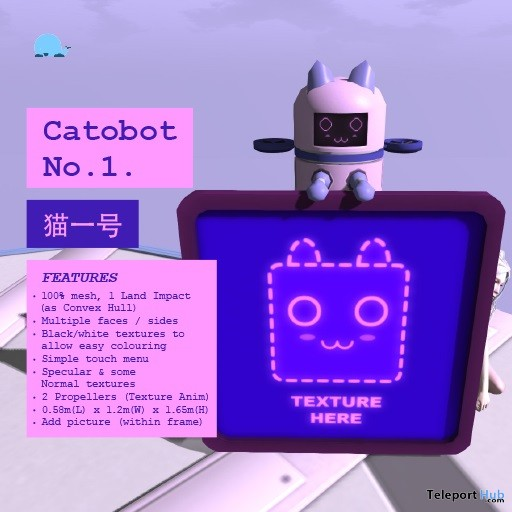 Catobot No.1 January 2019 Gift by The Flying Whale- Teleport Hub - teleporthub.com