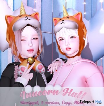 Inucorn Hat January 2019 Group Gift by BUING- Teleport Hub - teleporthub.com