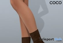 Stretch Sock Boots Brown January 2019 Group Gift by COCO Designs - Teleport Hub - teleporthub.com