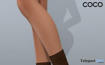 Stretch Sock Boots Brown January 2019 Group Gift by COCO Designs- Teleport Hub - teleporthub.com