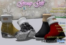 Snow Boots Unisex & Leather Top Black January 2019 Group Gift by CLBlue- Teleport Hub - teleporthub.com