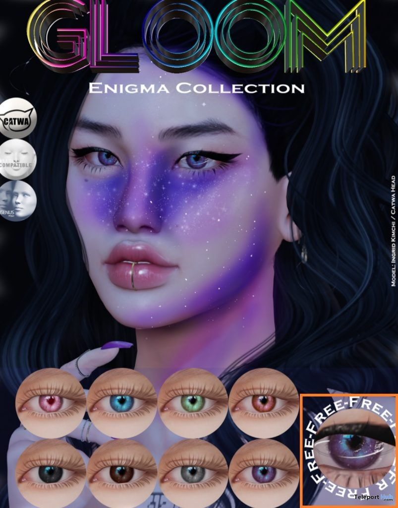 Saturn Lens Mesh Eyes Harajuku January 2019 Gift by Gloom. - Teleport Hub - teleporthub.com