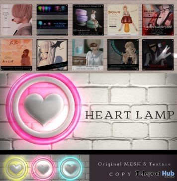 Wall Heart Lamp & Various Group Gifts by SOMALI- Teleport Hub - teleporthub.com