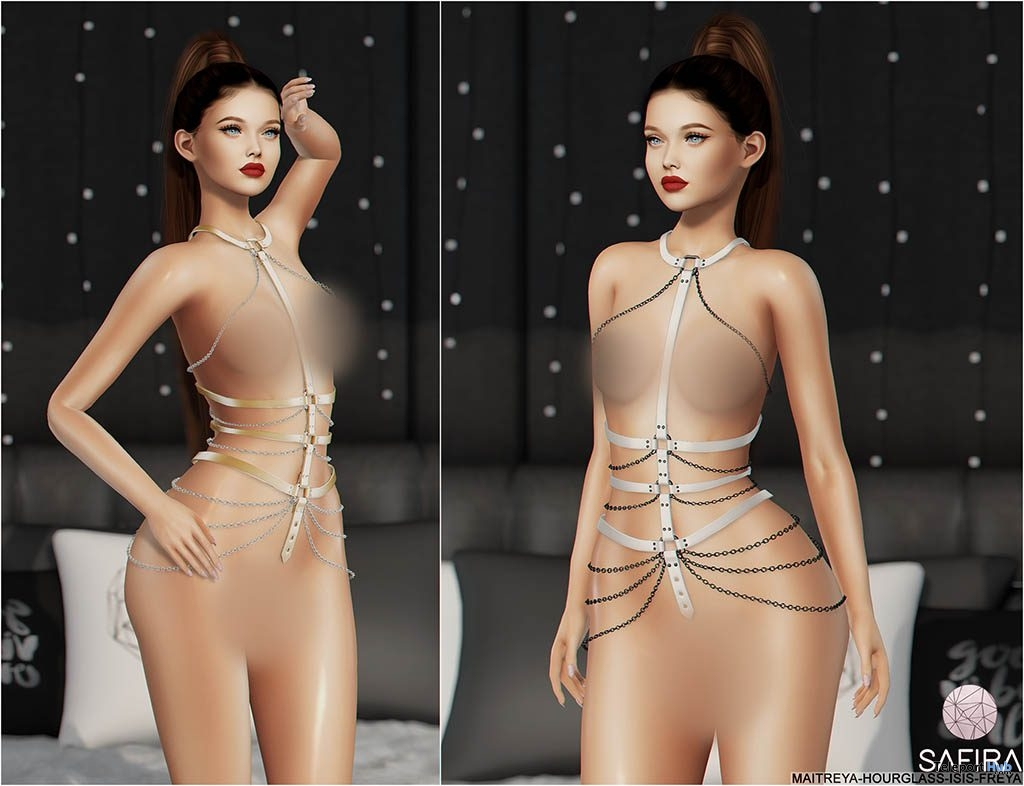 Gianna Harness Silver & Gold February 2019 Group Gift by Safira - Teleport Hub - teleporthub.com
