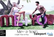 Me & You Bento Couple Pose & Prop February 2019 Group Gift by Something New - Teleport Hub - teleporthub.com