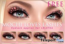 Flair Mochi Loves Lashes For LeLutka Head February 2019 Group Gift by Pink Fuel - Teleport Hub - teleporthub.com