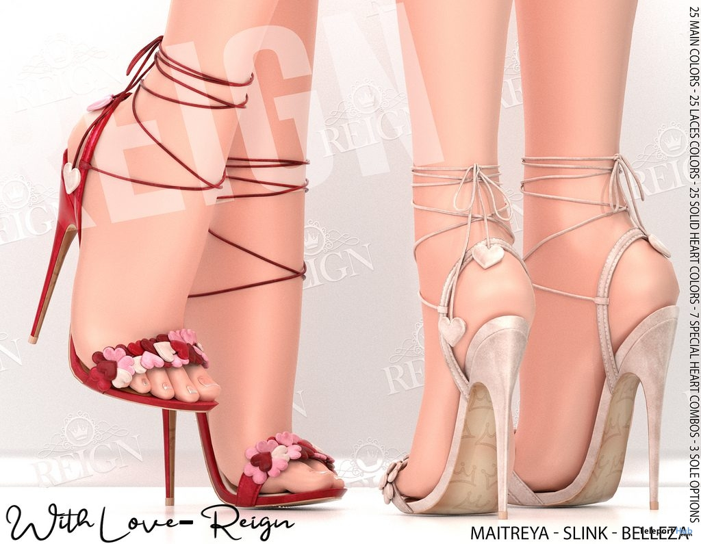 With Love Heels February 2019 Group Gift by REIGN - Teleport Hub - teleporthub.com