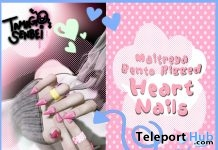 Heart Nails February 2019 Gift by Tamagosenbei - Teleport Hub - teleporthub.com