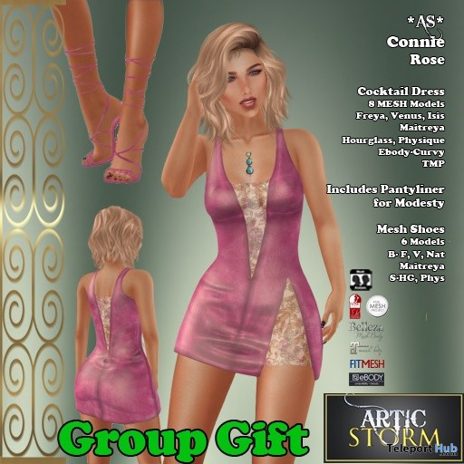 Connie Dress February 2019 Group Gift by Artic Storm - Teleport Hub - teleporthub.com