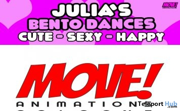 New Release: Julia's Bento Dance Pack by MOVE! Animations Cologne- Teleport Hub - teleporthub.com