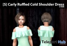 New Release: [S] Carly Ruffled Cold Shoulder Dress by [satus Inc] - Teleport Hub - teleporthub.com