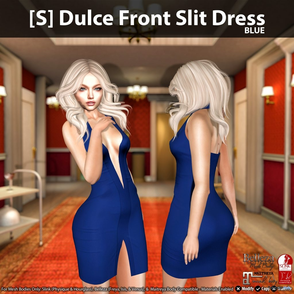 New Release: [S] Dulce Front Slit Dress by [satus Inc]- Teleport Hub - teleporthub.com