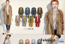 Oversized Chester Coat & Wide Salopette All in One Dress Promo by {amiable} @ Collabor88 February 2019 - Teleport Hub - teleporthub.com