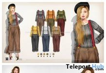 Loose Cardigan with Flower Tulle Skirt & Wide Pants Set-up with Suspenders 150L Promo by {amiable} @ N21 February 2019- Teleport Hub - teleporthub.com