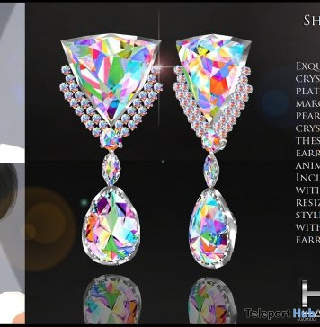 Shangela Earrings AB Crystals International Women's Day 2019 Gift by HETH Haute Couture - Teleport Hub - teleporthub.com
