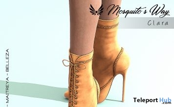 Clara Heel Boots March 2019 Group Gift by Mosquito's Way- Teleport Hub - teleporthub.com