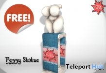 Peggy Statue March 2019 Subscribe Gift by Tiny Things - Teleport Hub - teleporthub.com
