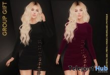 Alice Dress March 2019 Group Gift by Hilly Haalan- Teleport Hub - teleporthub.com