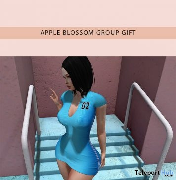 Freedom Navy Blue & Turquoise Dress March 2019 Group Gift by Apple Blossom- Teleport Hub - teleporthub.com