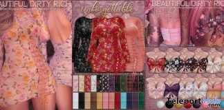 Unforgettable Dress & Spring Break Crop Top Fatpack March 2019 Group Gifts by Beautiful Dirty Rich - Teleport Hub - teleporthub.com