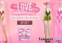 Risky Dress & Thigh High Boots Fatpack St. Patrick's Day 2019 Group Gift by LOVE - Teleport Hub - teleporthub.com