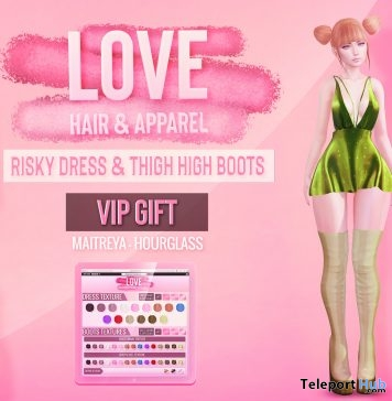 Risky Dress & Thigh High Boots Fatpack St. Patrick's Day 2019 Group Gift by LOVE- Teleport Hub - teleporthub.com