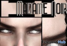 White Eyes March 2019 Group Gift by Madame Noir - Teleport Hub - teleporthub.com
