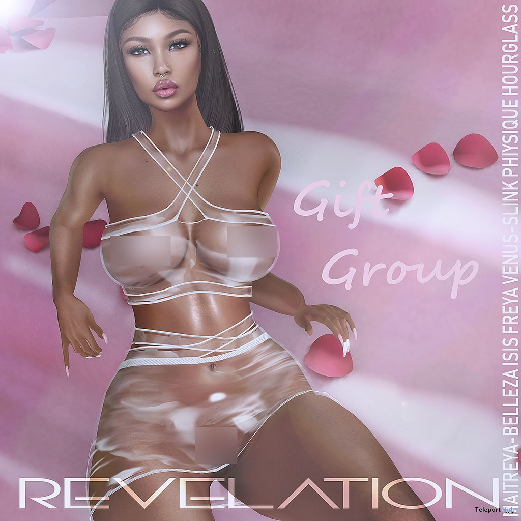 Lira Top & Skirt Transparent March 2019 Group Gift by Revelation - Teleport Hub - teleporthub.com