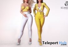 Khayla White & Yellow March 2019 Group Gift by SCANDALIZE - Teleport Hub - teleporthub.com