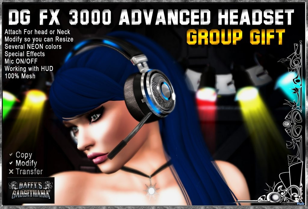 DG-FX 3000 Advanced Headset March 2019 Group Gift by Daffy's Gadgetmania - Teleport Hub - teleporthub.com