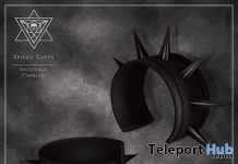 Spiked Cuffs March 2019 Group Gift by Psycho Barbie - Teleport Hub - teleporthub.com