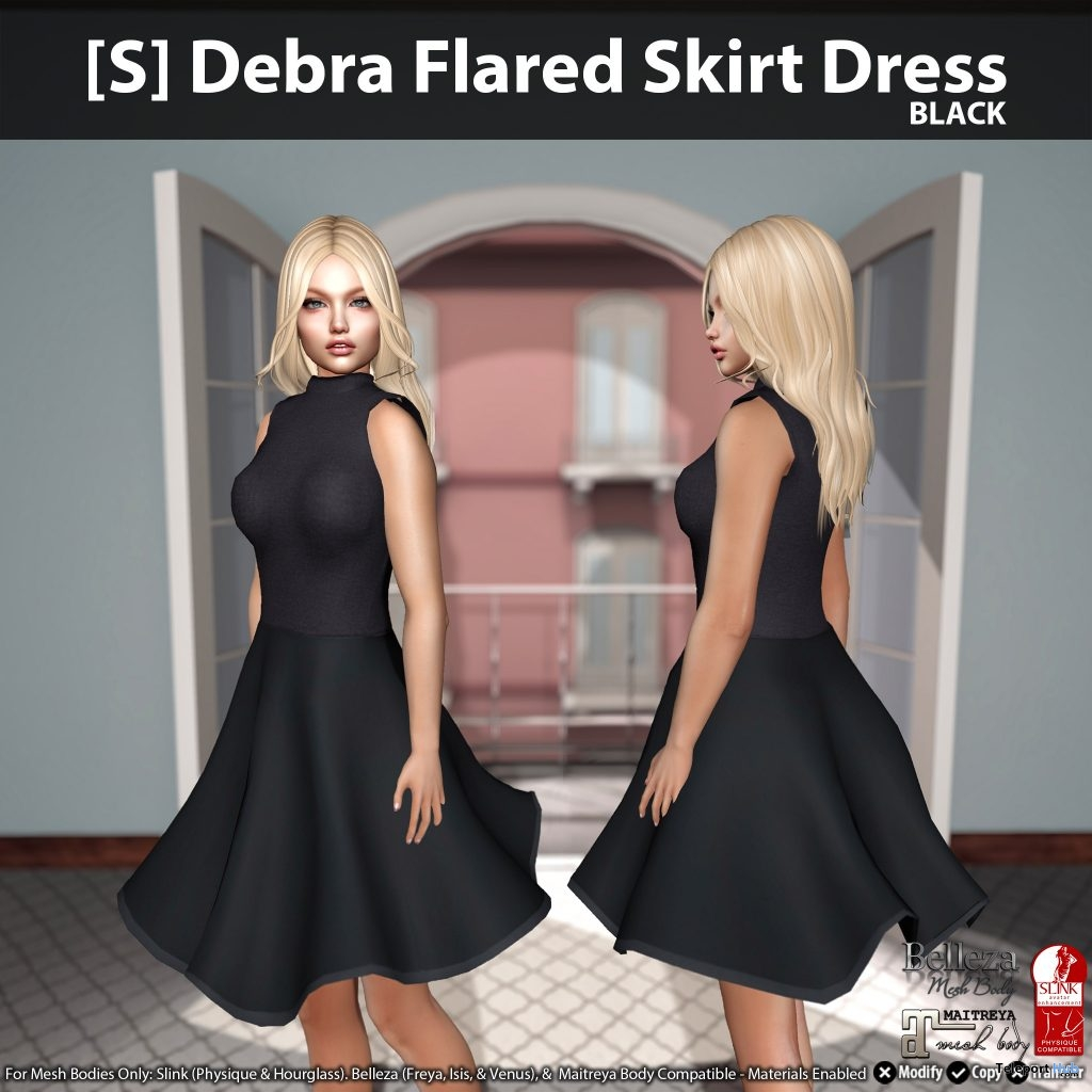 New Release: [S] Debra Flared Skirt Dress by [satus Inc] - Teleport Hub - teleporthub.com