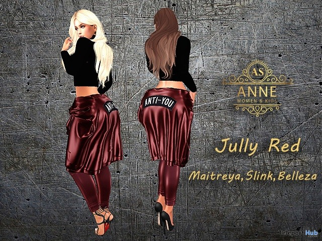 July Red Outfit 10L Promo by Anne Store- Teleport Hub - teleporthub.com