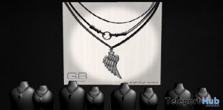 """Unisex Angel Wings Necklace & Leather Cover Sunglasses 1L Promo Gift by GABRIEL @ FREEBIES """"F"""" Store- Teleport Hub - teleporthub.com"""