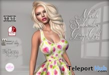 Floral Dress March 2019 Subscriber Gift by Graffitiwear- Teleport Hub - teleporthub.com