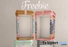Tea Tin Booths Gift by Dust Bunny - Teleport Hub - teleporthub.com