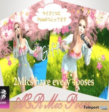 Microphone & Bento Poses March 2019 Gift by A&R Haven - Teleport Hub - teleporthub.com
