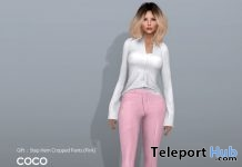 Step Hem Cropped Pants Pink March 2019 Gift by COCO Designs - Teleport Hub - teleporthub.com