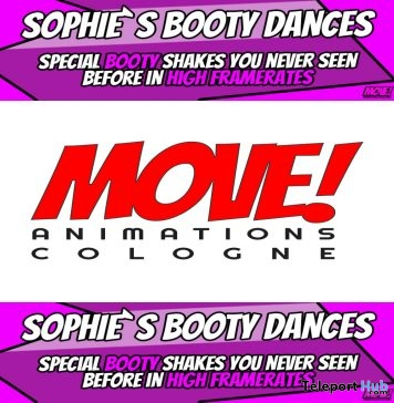 New Release: Sophie Booty Bento Dance Pack by MOVE! Animations Cologne- Teleport Hub - teleporthub.com