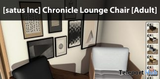 New Release: Chronicle Lounge Chair by [satus Inc] - Teleport Hub - teleporthub.com
