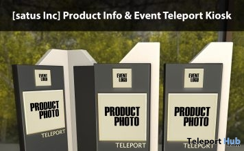 New Release: Product Info & Event Teleport Kiosk by [satus Inc] - Teleport Hub - teleporthub.com