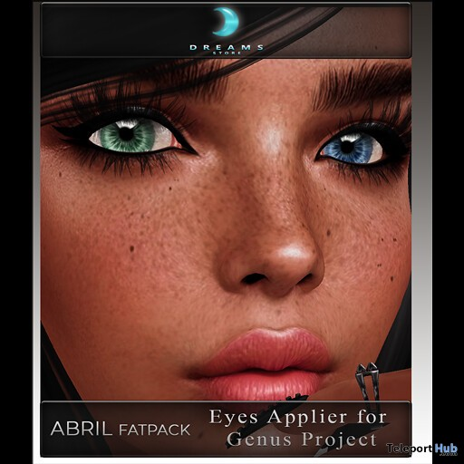 Abril Eyes Fatpack For Genus Bento Head April 2019 Group Gift by DREAMS - Teleport Hub - teleporthub.com