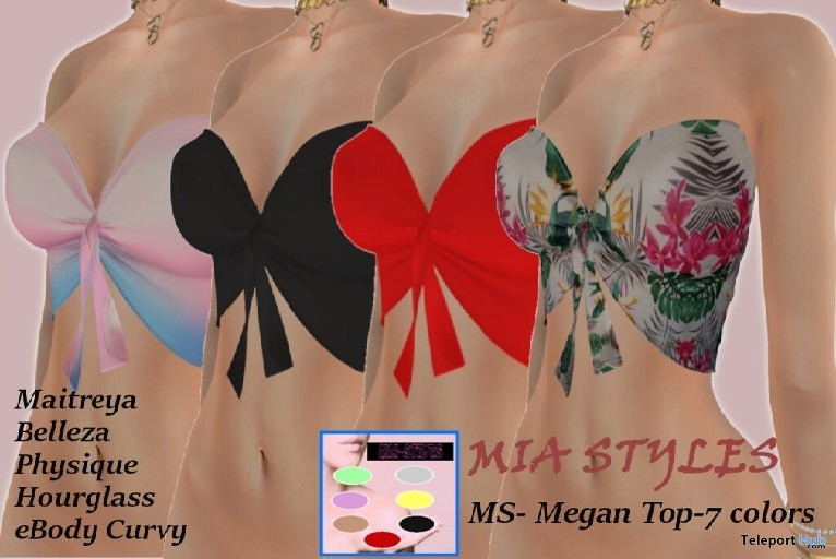 Megan Top Fatpack April 2019 Group Gift by Mia Styles - Teleport Hub - teleporthub.com