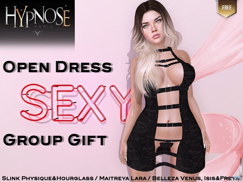 Open Dress April 2019 Group Gift by HYPNOSE - Teleport Hub - teleporthub.com